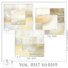 Vol. 0317 to 0319 Winter Papers by Doudou Design