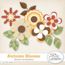 Autumn Blooms Templates by Kim Cameron