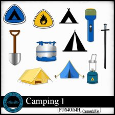 Camping 1 Elements by Happy Scrap Art