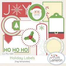 Holiday Labels Templates by Kim Cameron