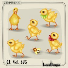 CU Vol. 376 Easter Chicken Duck Bee by Lemur Designs
