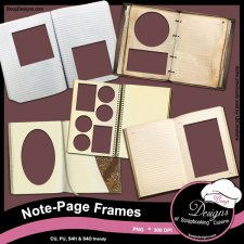 Note Page Frames by Boop Designs
