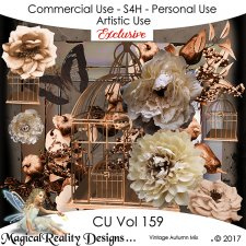Vintage Autumn Mix EXCLUSIVE - CU Vol 159 by MagicalReality Designs