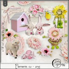 Elements CU - 235 Spring & Easter by Cajoline-Scrap