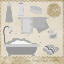 Bath Time Layered Templates 1 by Josy