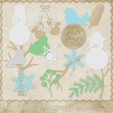 Winter Shapes - Template Makers Josy