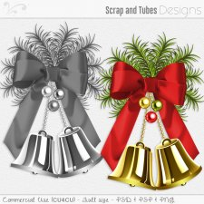 Christmas Bell with Bow Template (CU4CU) by Scrap and Tubes