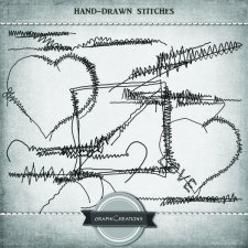 Hand drawn EXCLUSIVE stitches by Graphic Creations