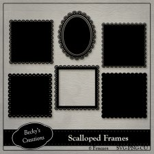 Scalloped Frames PNG - SVG by Becky Creations