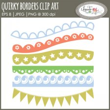 Quirky borders clip art lace clip art Lilmade Designs