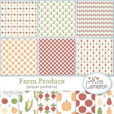 Farm Produce Pattern Template by Kim Cameron