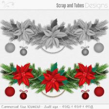 Christmas Garland Template 2 (CU4CU) by Scrap and Tubes