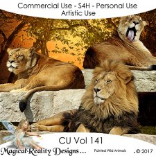 Painted Wild Animals - CU Vol 141 by MagicalReality Designs