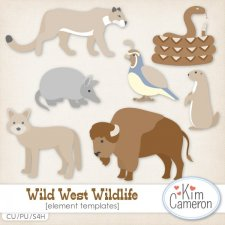 Wild West Wildlife Templates by Kim Cameron