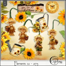 "Elements CU - 273 Autumn mix 6 ""Sunflowers"" by Cajoline-Scrap"