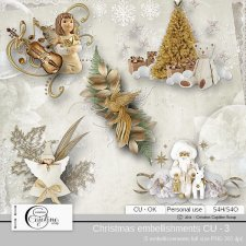 Christmas embellishments - CU 3 by Cajoline-Scrap