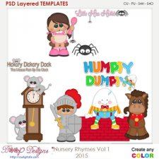 Nursery Rhymes Vol 1 Layered Element Templates
