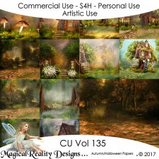 Autumn/Halloween Papers- CU Vol 135 by MagicalReality Designs