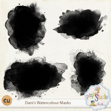 Danis Watercolor Masks by PapierStudio Silke