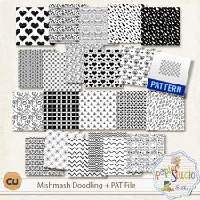 Mishmash Doodling and Pattern file EXCLUSIVE by PapierStudio Silke