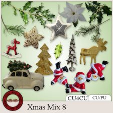 Xmas Mix 8 kit CU4CU by Happy Scrap Arts