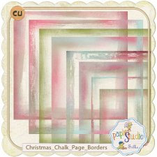 Christmas Chalk Page Edges EXCLUSIVE by PapierStudio Silke