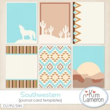 Southwestern Journal Cards Templates by Kim Cameron