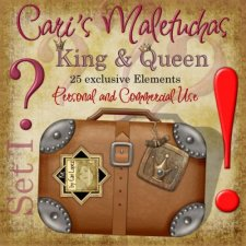 Maletuchas Set 1 -King & Queen by Cari Lopez