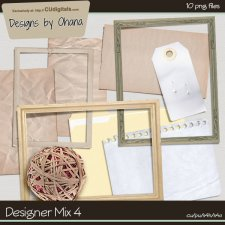 CU Mix 4 - Notes & Frames - EXCLUSIVE Designs by Ohana