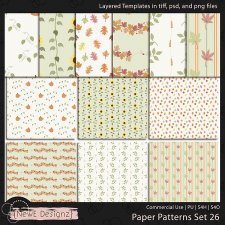 EXCLUSIVE Layered Paper Patterns Templates Set 26 by NewE Designz
