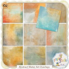Abstract Water Art Overlays EXCLUSIVE by Papierstudio Silke