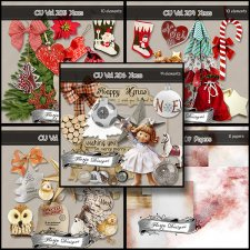 CU vol 203 to 207 Christmas by Florju Designs