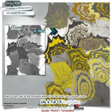 Spider Webs 01-Templates by Eirene Designs