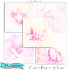 Classic Papers 17 Love by Kastagnette