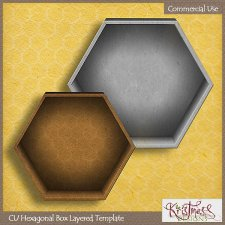Hexagonal Box Layered Template EXCLUSIVE by Kristmess