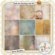 Soft Art Overlays Vol 10 - Decor Borders EXCLUSIVE by PapierStudio Silke