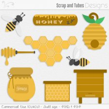 Honey Templates (CU4CU) by Scrap and Tubes