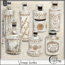 Vintage bottles by Cajoline-Scrap