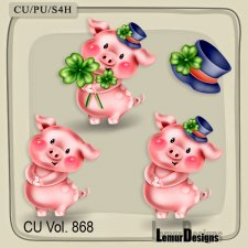 CU Vol 868 Pig by Lemur Designs