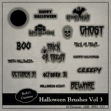 Halloween Brushes Volume 3 ABR - PNG by Beckys Creations