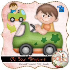 Boy Template by Peek a Boo Designs