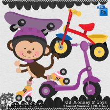 Monkey & Toys by Peek a Boo Designs