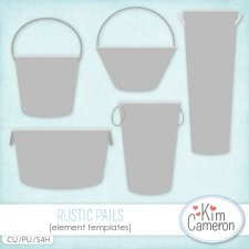 Rustic Pails Templates by Kim Cameron