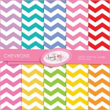 Colorful ChevronLilmade Designs