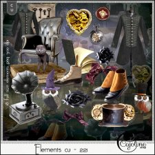 Elements CU - 221 Halloween by Cajoline-Scrap