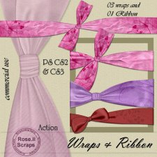 Action - Wraps & Ribbon I BUNDLE by Rose.li