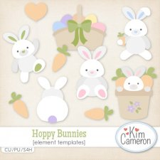 Hoppy Bunnies Templates by Kim Cameron