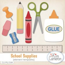 School Supplies Templates by Kim Cameron