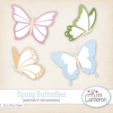 Spring Butterflies Templates by Kim Cameron