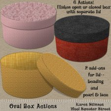 Oval Box Action by Karen Stimson